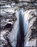 Picture of the Crevasse at Grinnell Glacier in Glacier National Park.
